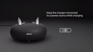 How to charge Oticon Opn S™ and Oticon Opn Play™ rechargeable hearing aids