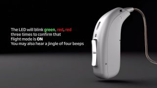 How to activate flight mode in Oticon Opn S™ and Oticon Opn Play™ rechargeable hearing aids