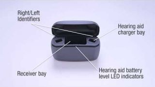Charging your ReSound LiNX Quattro™ rechargeable hearing aids